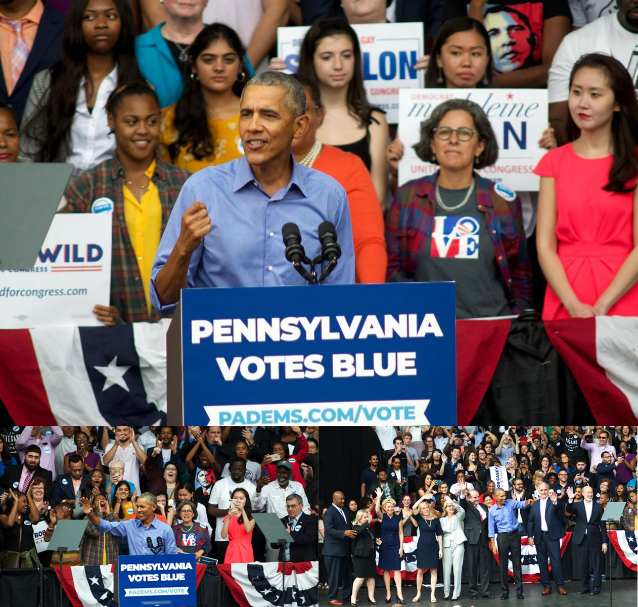 Obama Headlines Democratic Rally in North Philadelphia