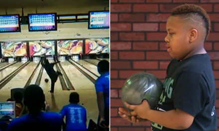 10-Year Old Boy Bowls a Perfect Game and Makes History!