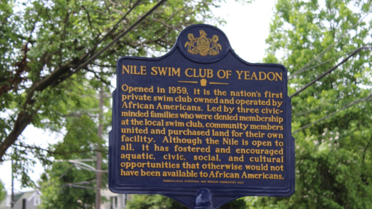 Nile Swim Club of Yeadon Receives Historical Marker and Dedicates New Basketball Court
