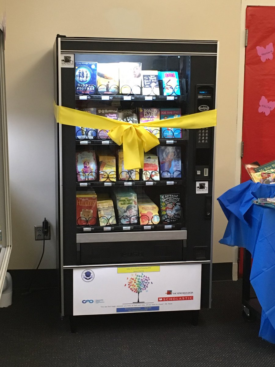 School Installs Vending Machine That Dispenses Free Books to Kids Who Read