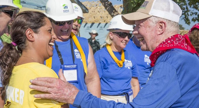 On 95th Birthday, Jimmy Carter is Still Proving Age is No Obstacle as He Builds Homes for Humanity